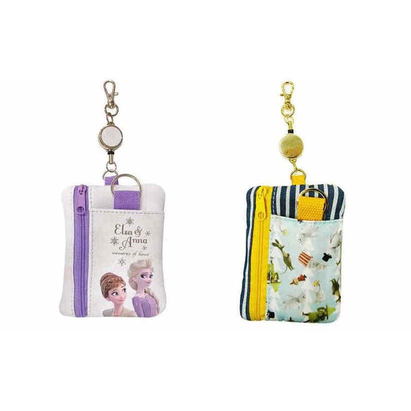 阿猴達可達 日本限定 冰雪奇緣 MOOMIN嚕嚕米 嚕嚕咪 工作證件 票卡夾 感應卡 鑰匙包 零錢包多用途 伸縮卡套