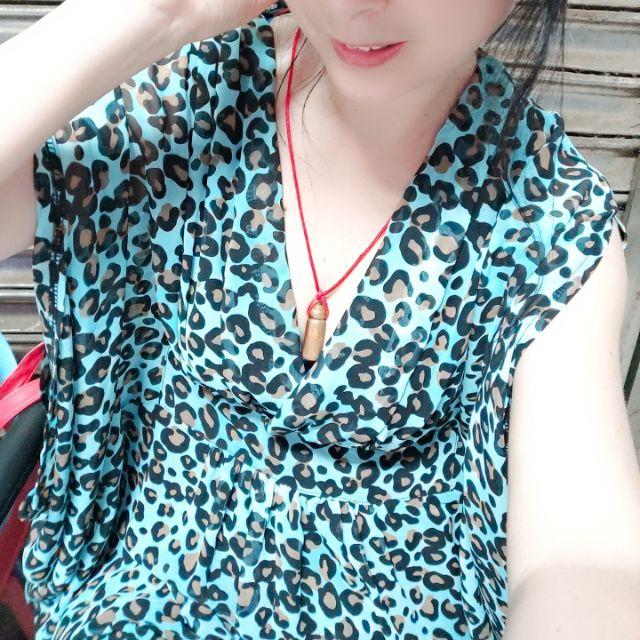 Forever21雪紡豹紋洋裝
