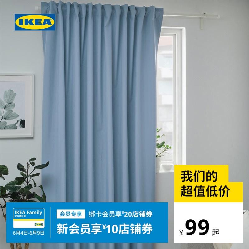 IKEA宜家BENGTA本格塔遮光窗簾臥室ˇ