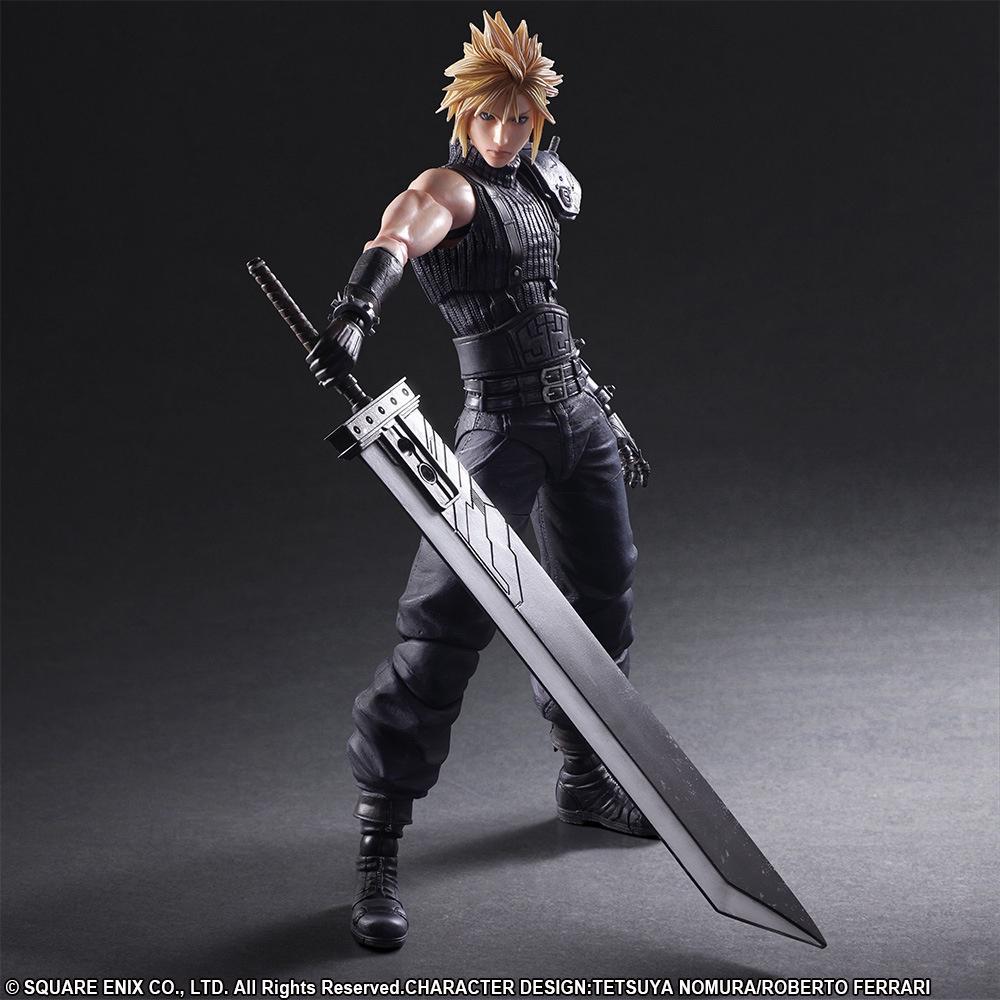 Final Fantasy7 Play Arts改重製版2代克勞德斯特萊夫手辦