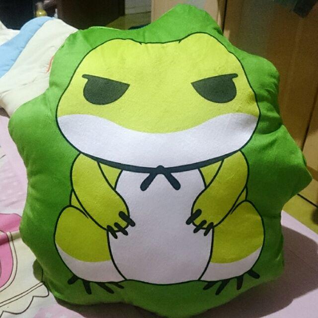 全新旅行青蛙抱枕 靠枕 青蛙抱枕 造型抱枕 蛙蛙 旅行蛙