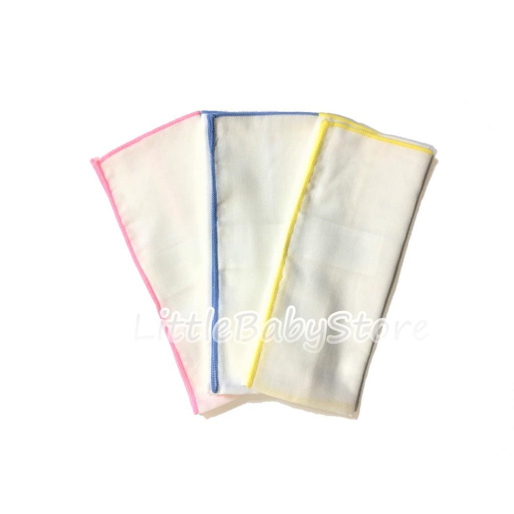 LittleBabyStore-MIT素面純棉嬰兒新生兒紗布手帕紗布巾餵奶巾(30x30cm)