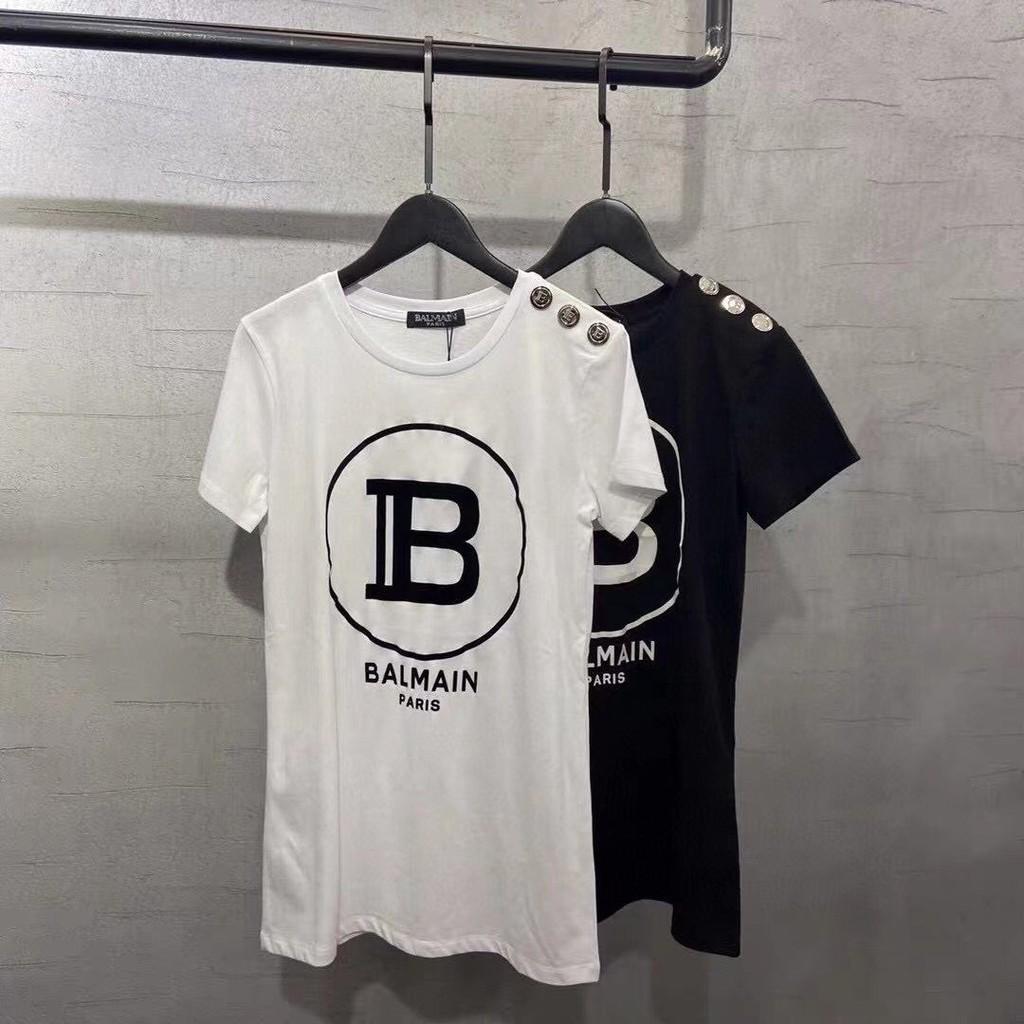 代購高端品質 BALMAIN 巴爾曼經典標誌英文LOGO 短袖上衣