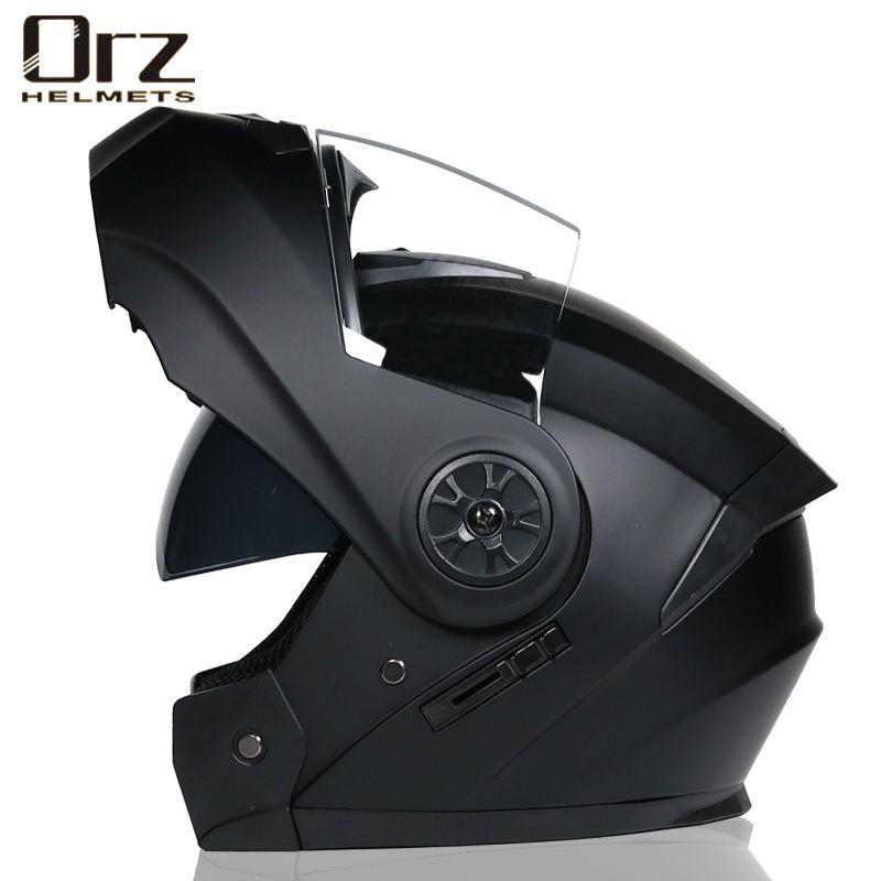 Orz電動電瓶摩托車頭盔男女士全盔四季揭面盔藍牙機車夏季安全帽