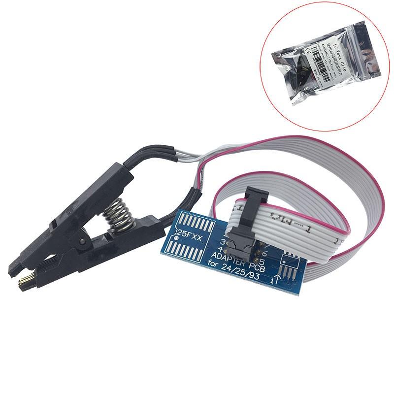 免拆芯片燒錄測試夾 SOP8 窄體 寬體IC夾子 FLASH闪存通用測試夾