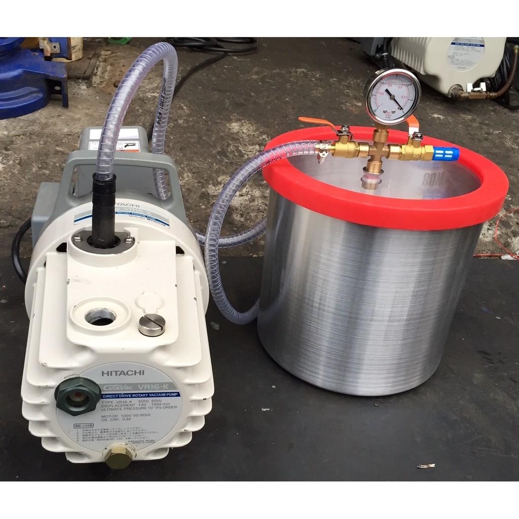高速型10吋型高真空脫泡機( 日立 1/2HP二段式油式真空幫浦)--矽膠/環氧樹脂/公仔/手工皂-各膠質類脫泡真空機