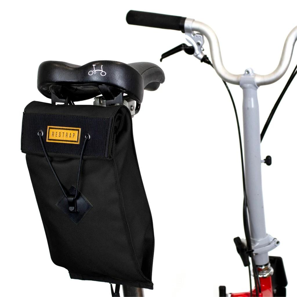 巡揚單車 -【RESTRAP】英國 BROMPTON CITY SADDLE BAG - LARGE 小布座墊包大
