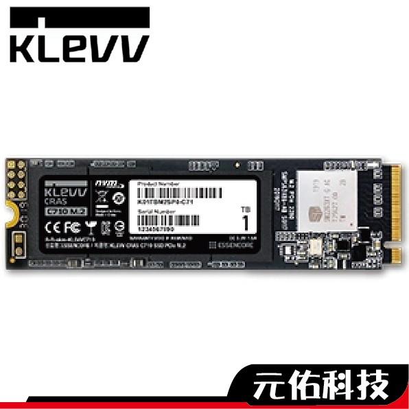 KLEVV 科賦 CRAS C710 256G 512G 1TB M.2 PCIe SSD 固態硬碟 C720