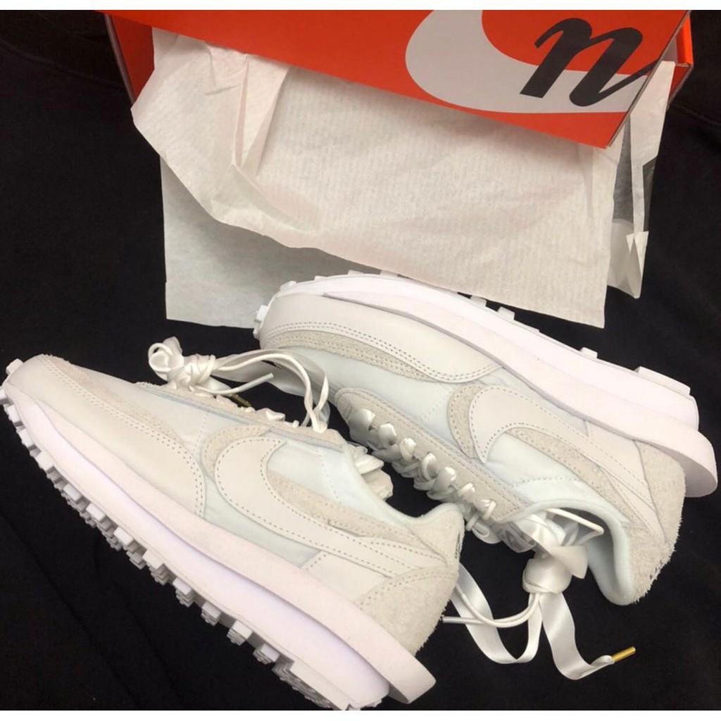 """全新爆款 sacai x Nike LDV Waffle """"Nylon"""" BV0073-101 白色 /黑色 皮革 現貨"""