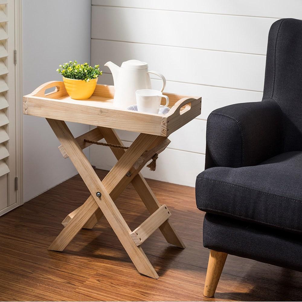 DIY材料包- 折合兩用托盤桌(松木折合桌)
