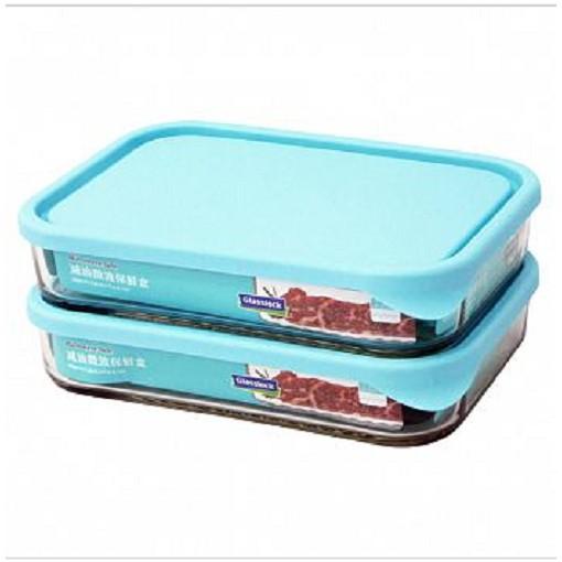 Glasslock 強化玻璃【SP-1811】  減油微波保鮮盒 1050ml*2