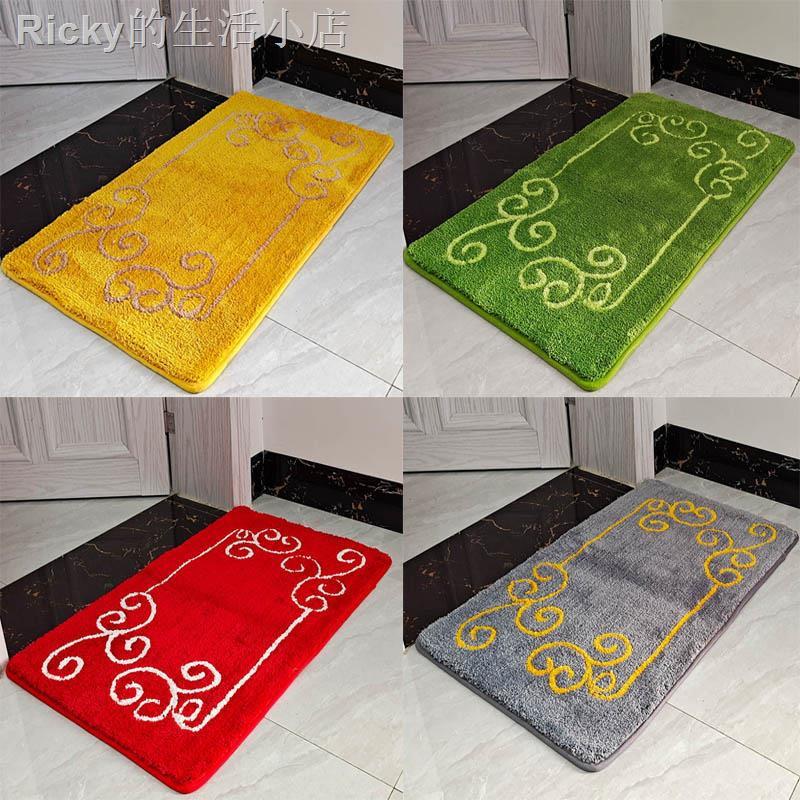 ▽❍❧家用金黃色祥云進門地墊門口綠色地毯門墊臥室大紅色吸水防滑墊子