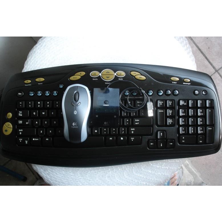 【現貨 正品】正品羅技無線鍵鼠套裝 無線鍵盤+羅技LX7鼠標+U盤雙通接收器