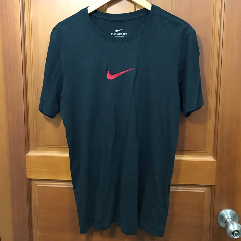 二手九成新 Nike 潮流系列 短踢 短袖T恤 黑 刺繡Logo S號