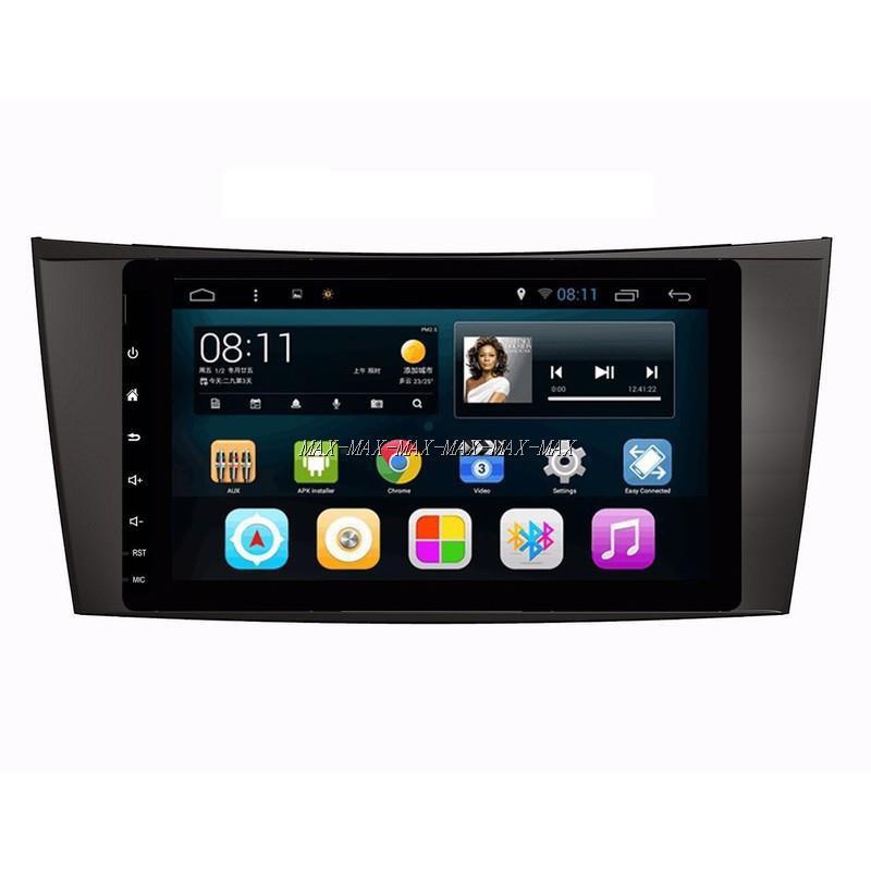 賓士 W203 CLK W211 W219 SLK 9吋通用平面/電容屏安卓主機 可WIFI上網 導航