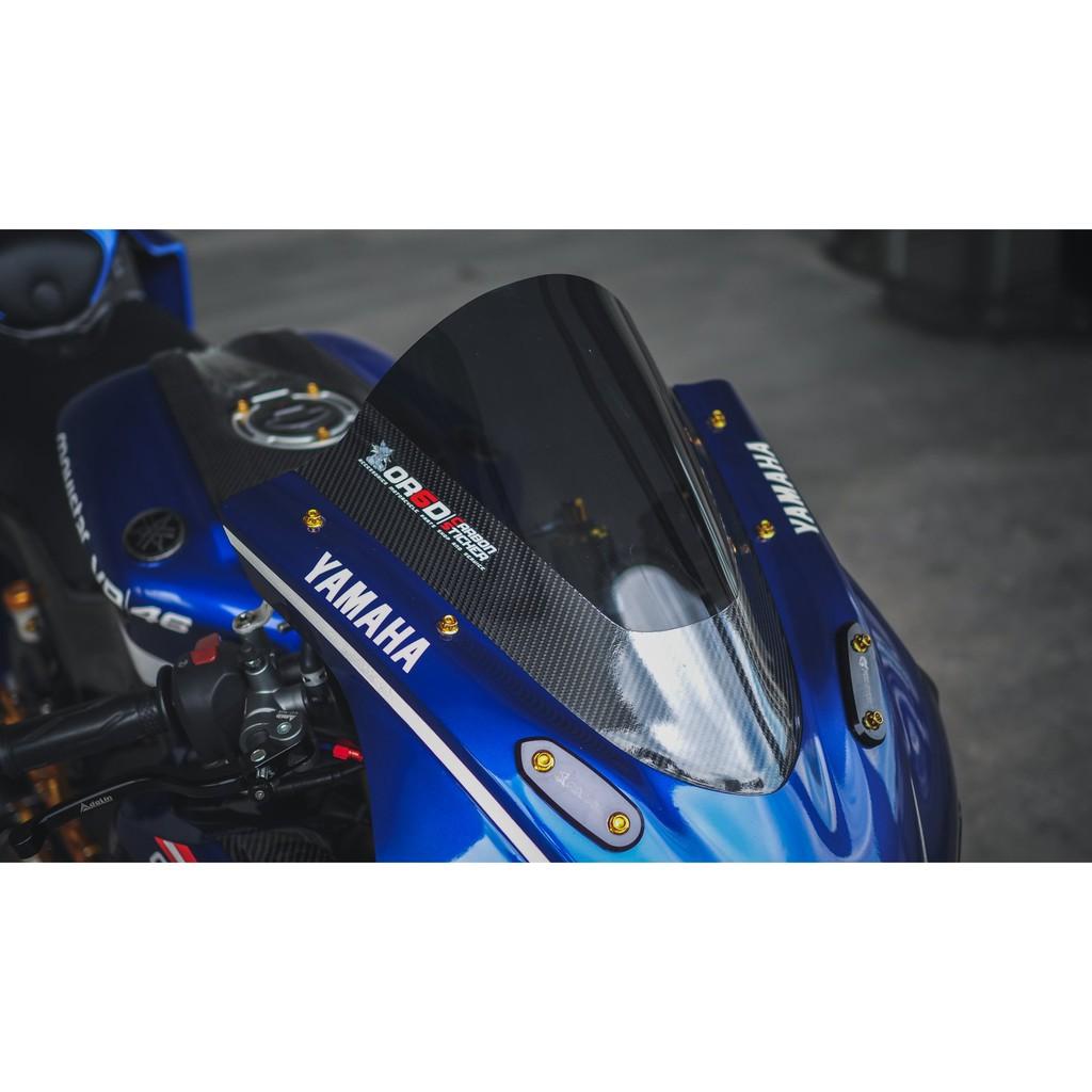 Moto橘皮 現貨 R15 加高風鏡 高角度風鏡 碳纖維 電鍍 r3 ninja400 cbr650r cbr500r