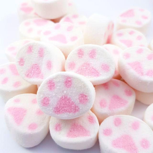 嘗甜頭 附發票 貓掌棉花糖 200公克 造型棉花糖 蜜意坊棉花糖 棉花糖 甜點裝飾 現貨