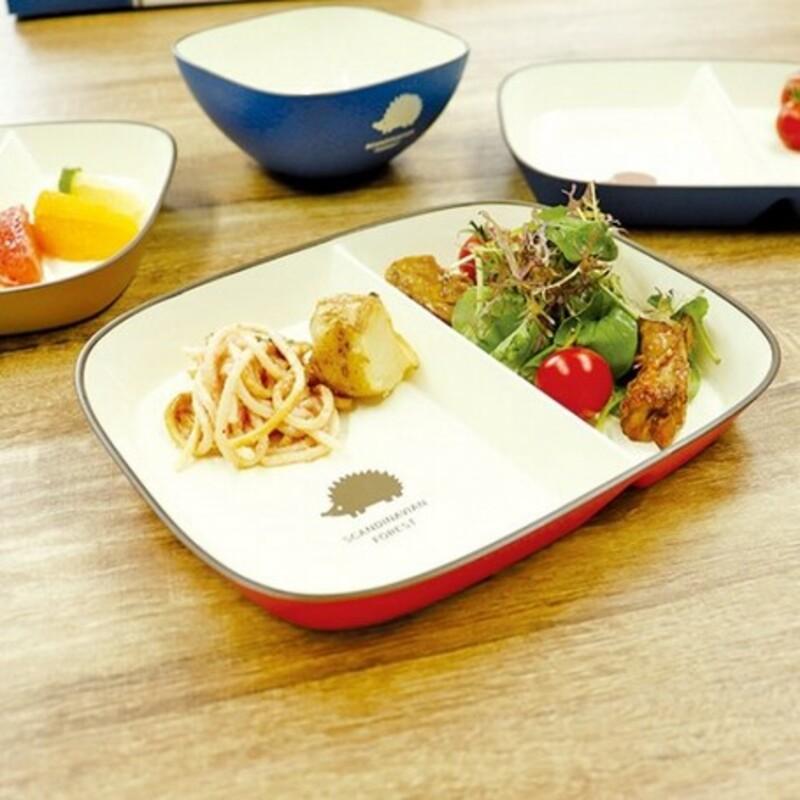 🐰日貨 現貨不用等💗 日本製 北歐 MOZ 刺蝟餐盤 森林餐盤 餐盤 餐具 盤子 刺蝟 野餐 紅色/藍色