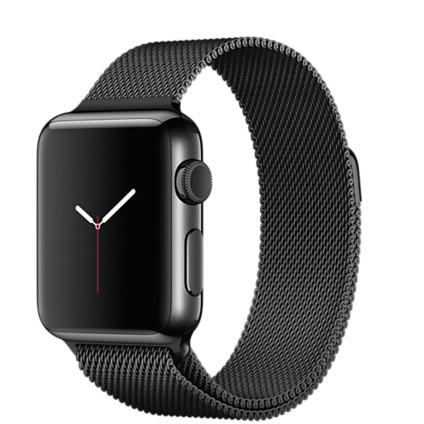 Apple Watch MMFK2TA/A 智慧型手錶 ,38 公釐太空黑不鏽鋼錶殼搭配太空黑色米蘭式錶帶_原廠公司貨