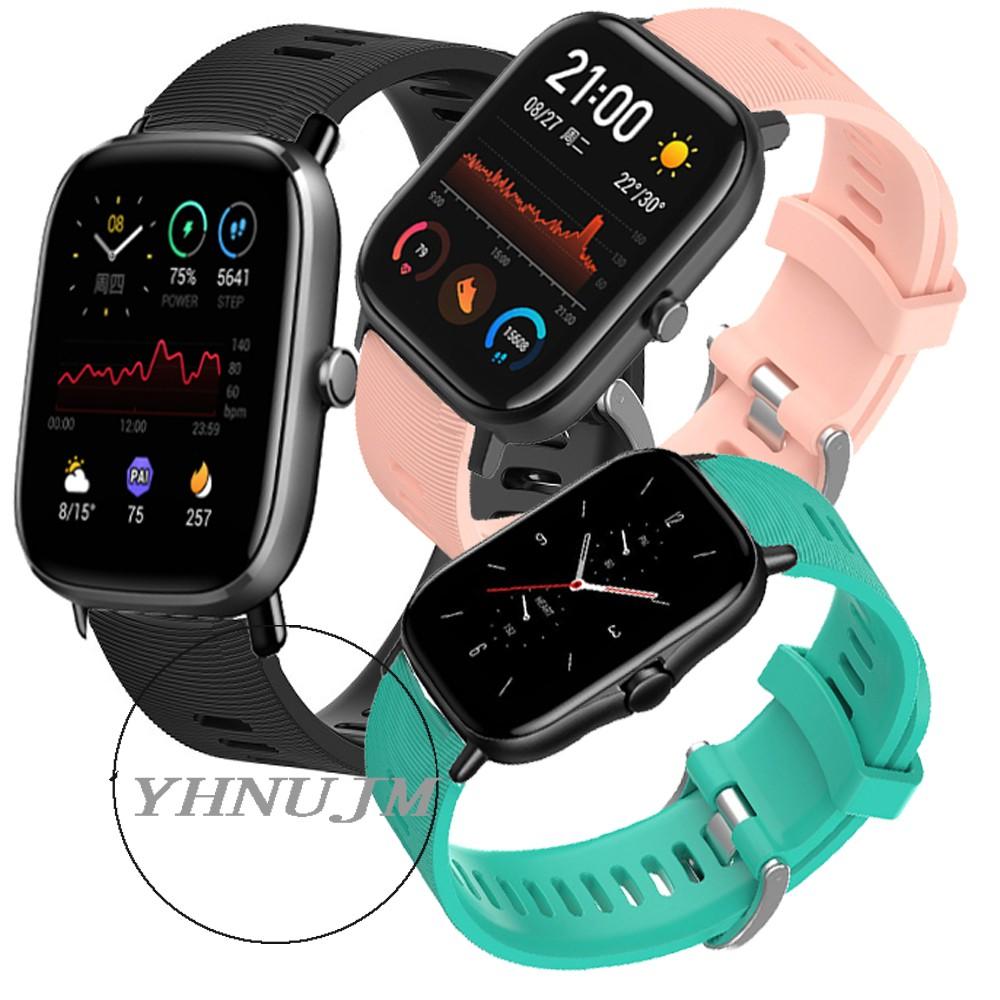 華米 Amazfit GTS2 硅膠 腕帶 小米 Amazfit gts 2e 錶帶 GTS 2mini 智能手錶錶帶