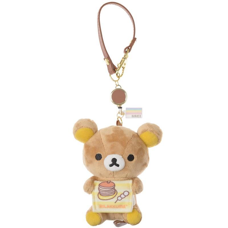 [日本動漫周邊] 懶懶熊 付nanaco IC卡 掛飾 拉拉熊 絨毛吊飾 全新 現貨