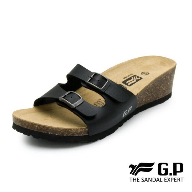 【G.P】女款雙帶典雅柏肯鞋(W794)黑色/白色