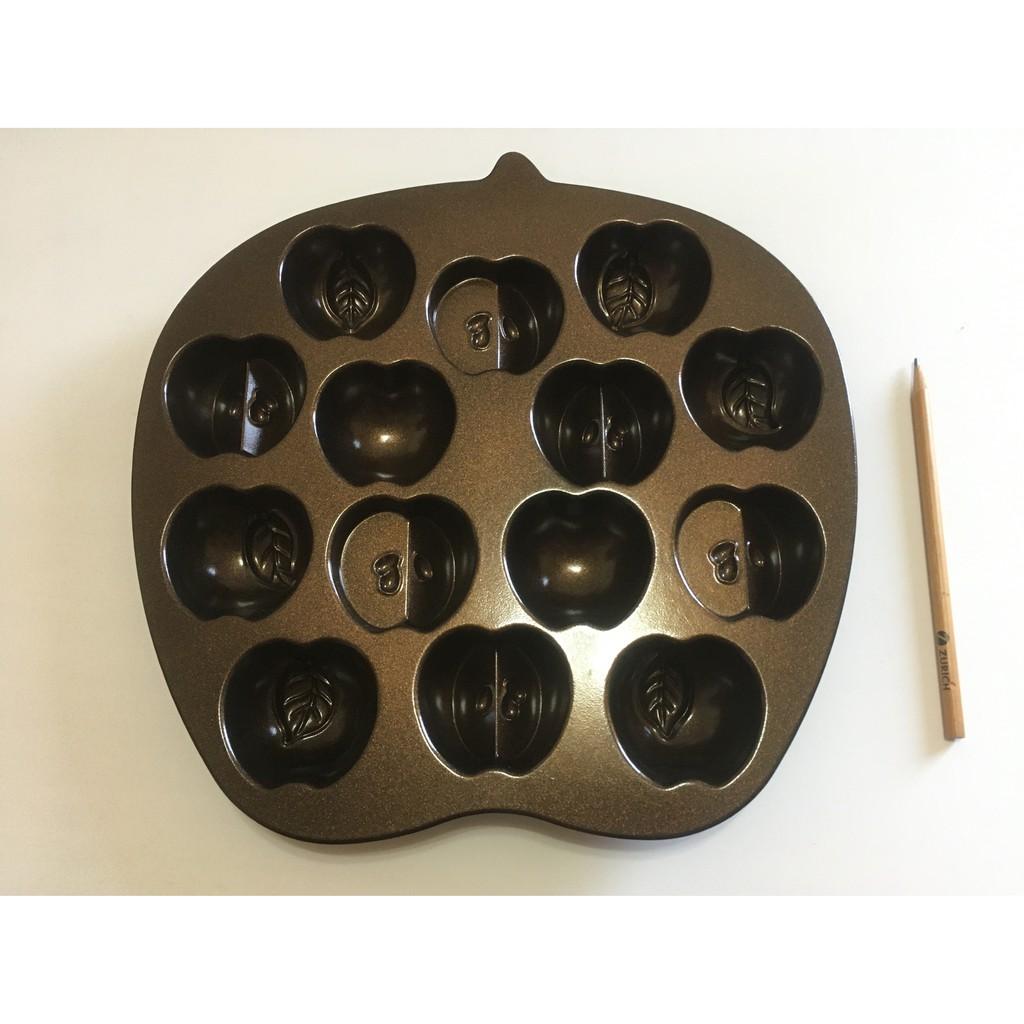 出清:三能UN16104-UNOPAN21公分長方型不沾活底蛋糕模、美國NORDIC WARE小蘋果造型烤模