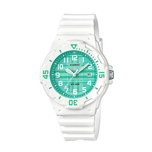 卡西歐CASIO外觀設計以潛水風格為概念的女性運動風錶款粉紅色LRW-200H-4B2 LRW-200H-3C綠格紋