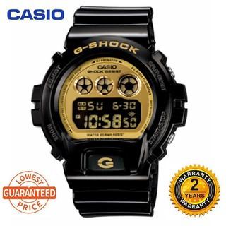 卡西歐 G-Shock Dw6900 數字運動手錶男士手錶黑金 Dw-690