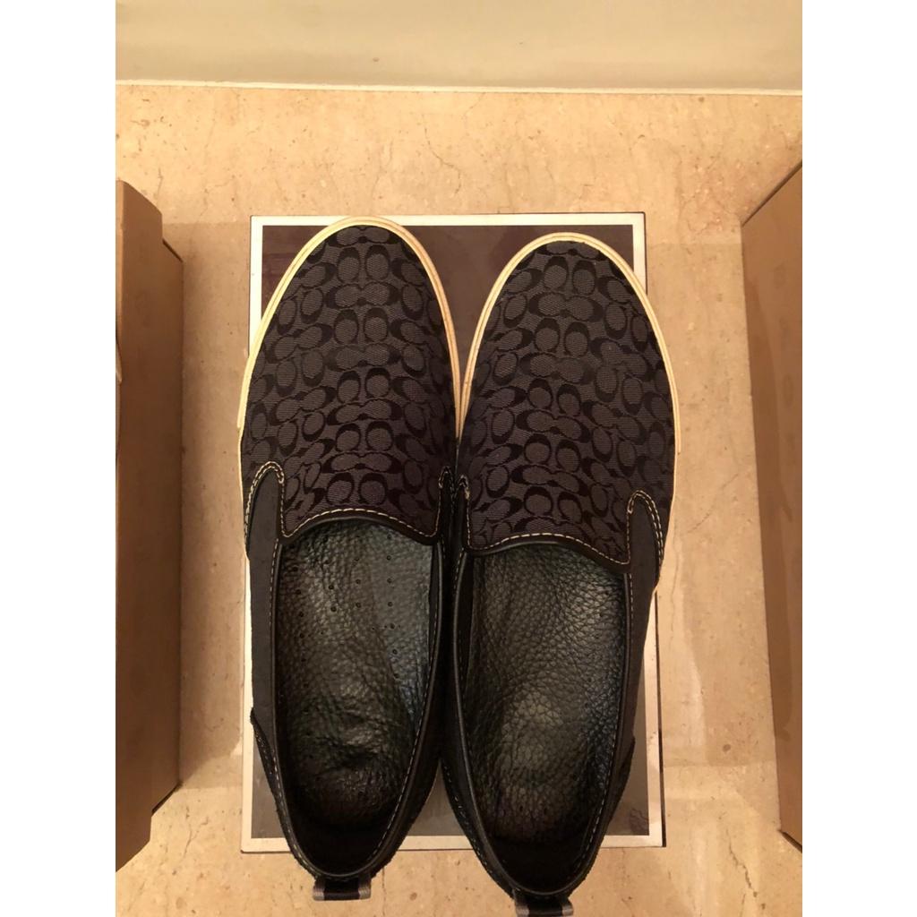 二手 男鞋 Coach 懶人鞋 7.5成新 9.5號 (附鞋盒)