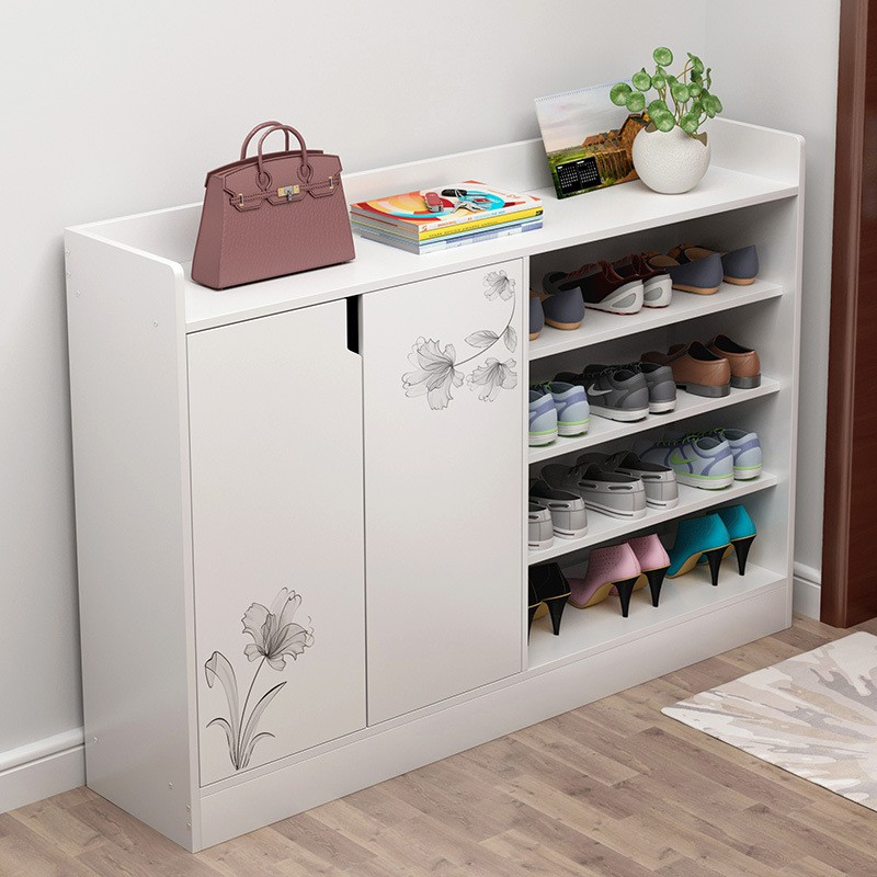 進戶門家庭鞋柜帶背板家用門口省空間經濟型室內好看防塵入戶鞋架小溫很居家