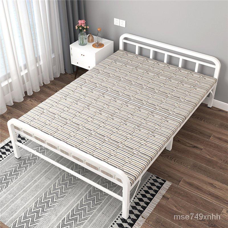 新款簡易折疊折疊午休床【免運】折疊床單人1.2米家用小床單人床出租房行軍床木床午休鐵床鐵架床