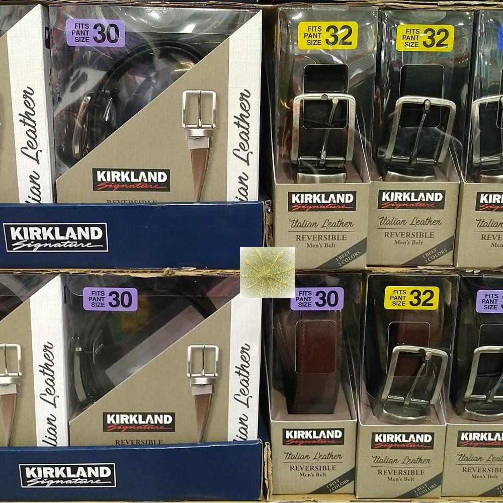 刷卡Kirkland Signature 科克蘭 男真皮雙面皮帶《宅配免運》好市多線上代購