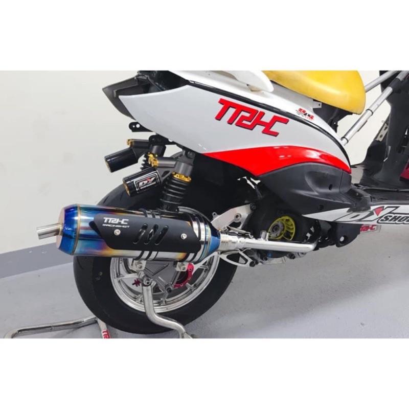 Dy TRHC賽道專用R19白鐵 彩鈦競賽排氣管 雷霆S150勁戰123代 勁戰45代BWS-R JET-S Force