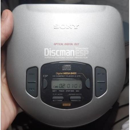 CD隨身聽 Sony Discman ESP D-275 光纖輸出 銘機