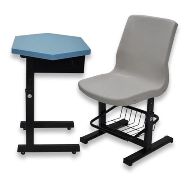 【US12-03】升降式六角課桌椅(整組) #108B-1