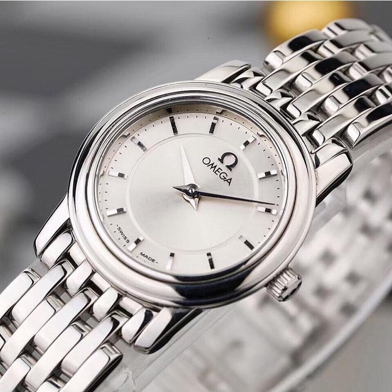 二手真品 Omega蝶飛系 女錶 石英腕錶 可更換皮質錶帶 指定方式付款附送韓國真皮錶帶 手錶