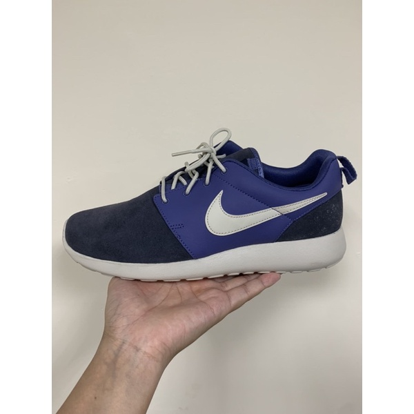 3折 Nike Rosherun Premium 藍 深藍 白 男鞋 525234-401