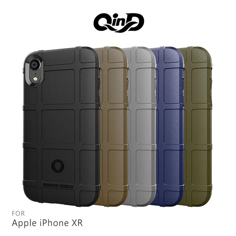 QinD Apple iPhone XR 戰術護盾保護套 保護殼 防摔 蘋果 手機殼 鏡頭加高 軍工加厚 偏硬 TPU
