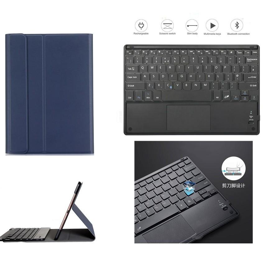【觸控】三星Samsung Tab S7 11寸/S7 Plus 12.4寸觸控藍牙鍵盤+保護殼 注音無線鍵盤外接可拆卸