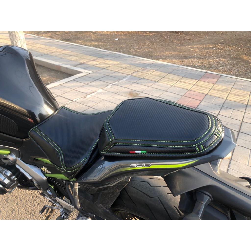 專業配件 專用於川崎摩托車 坐墊套 改裝Z900 Z800 Z650 Z400 Z250 碳釬維坐墊套 加厚加軟 防水