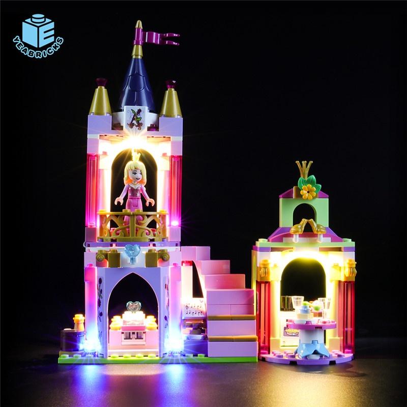 Maomao8911-YEABRICKS兼容樂高LED燈飾41162公主的皇家慶典積木發光配件照明**