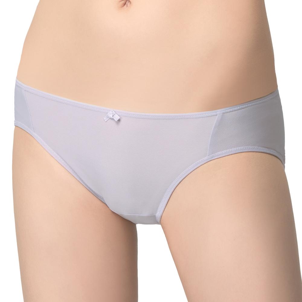 SWEAR 思薇爾 惹萌漾 小粉絲 系列 M-XL 低腰 三角 內褲 (淡荷灰)