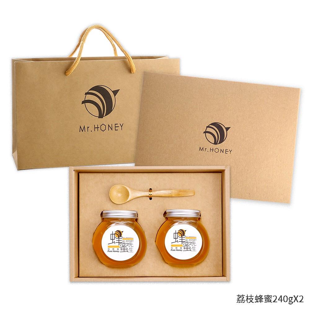 [Mr.HONEY 蜂蜜先生]蜂蜜禮盒-荔枝蜂蜜240g+荔枝蜂蜜240g