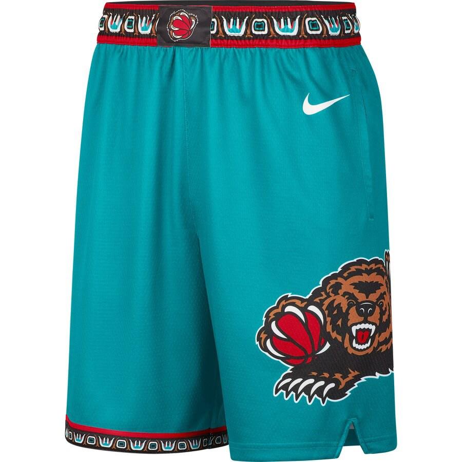 NIKE NBA球褲 灰熊隊 畢比 莫蘭特 城市版球褲 復古籃球褲 運動短褲 籃球短褲 主場籃球褲