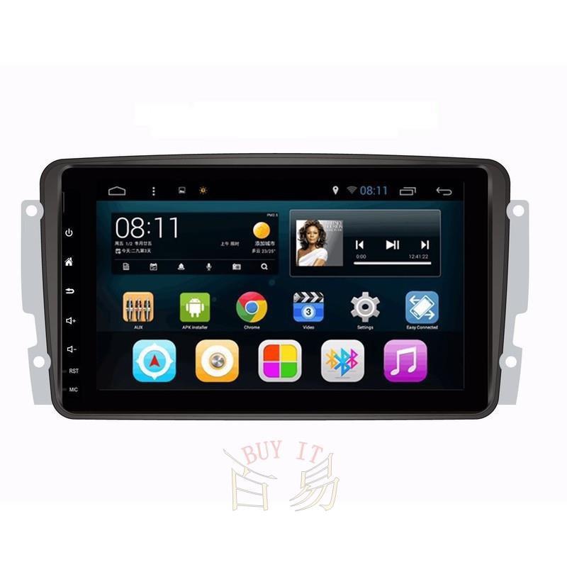 賓士W203 CLK W211 W219 SLK 9吋汽車音響安卓主機 觸控螢幕 衛星導航