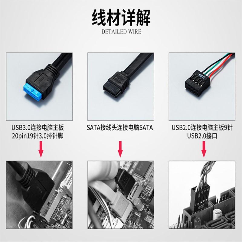 ﹉┅☏多功能內置USB3.0讀卡器前置機箱面板 esata type-c讀卡器 USB3.0多功能內置讀卡器