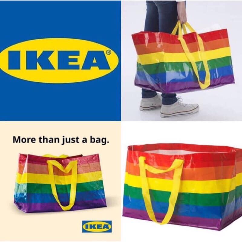 澳洲限量IKEA彩虹購物袋