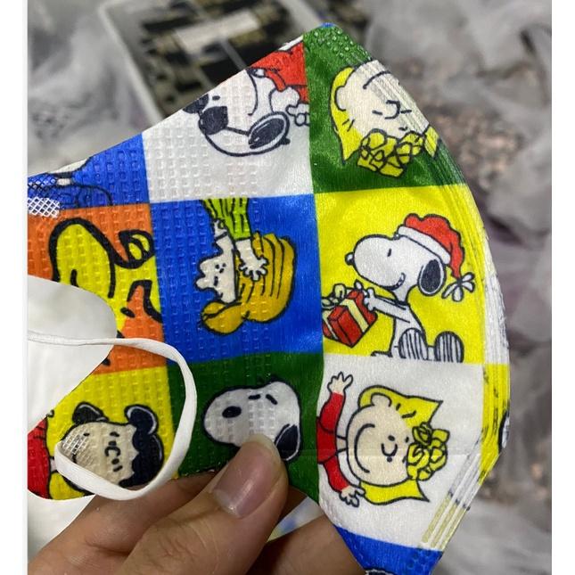50入卡通印花口罩3D兒童史努比一次性立體3D成人face maskHF6548