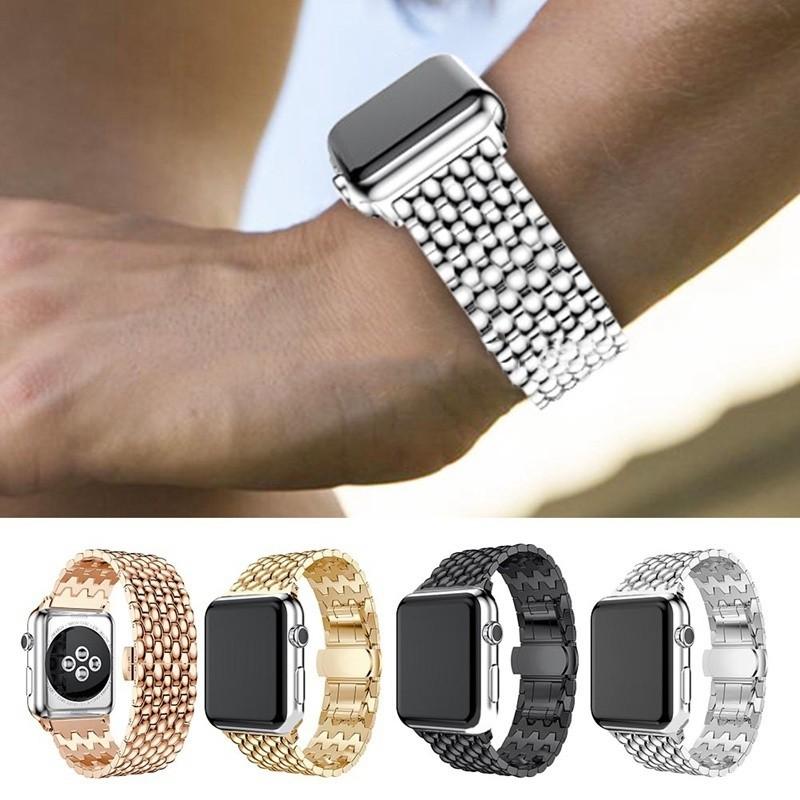 適用於Apple Watch Iwatch Series 3 2 1的38 \ / 42mm不銹鋼手鍊錶帶手環